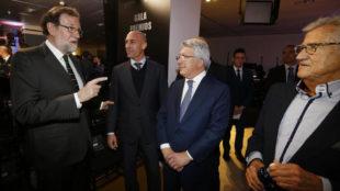 Rajoy, Rubiales, Cerezo y Pepe Domingo Castaño, en la gala
