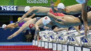 Una prueba de natación durante los Juegos Paralímpicos de Rio 2016.