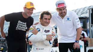 Barrichello, Zanardi y Alonso.