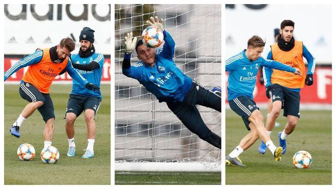 El Madrid prepara la Copa con Ramos, Keylor y Asensio