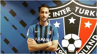 Álvaro Muñiz, durante su presentación con el Inter Turku.