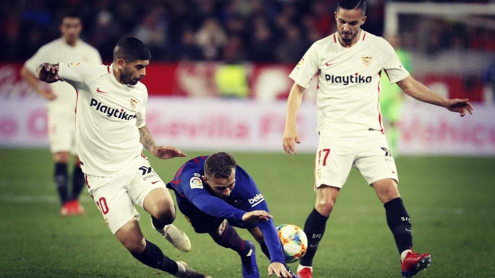El Sevilla, que viaja al Camp Nou con un 2-0 de renta, confía en...