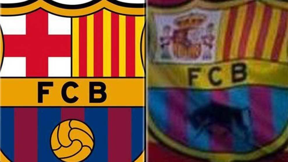 5cf35a36962b8 Barcelona Una televisión holandesa españoliza el escudo del Barça para  informar de De Jong