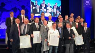 La mayoría de campeones de la especialidad, reunidos por Jean Todt.