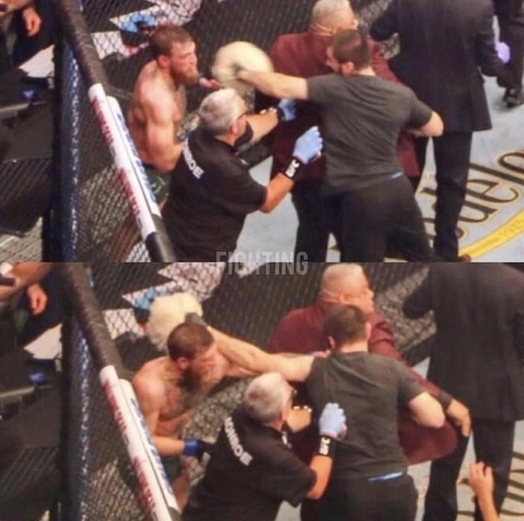 El luchador Conor McGregor ha publicado dos fotos para demostrar que...