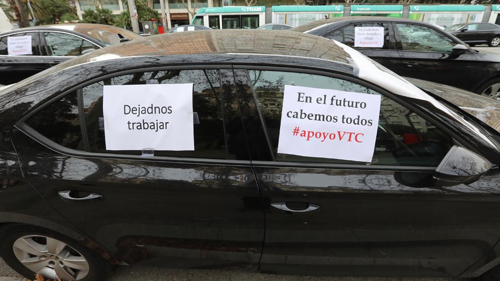 Un VTC, en Barcelona.