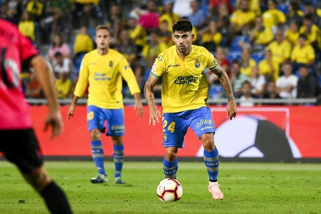 Tana, durante un partido con Las Palmas.