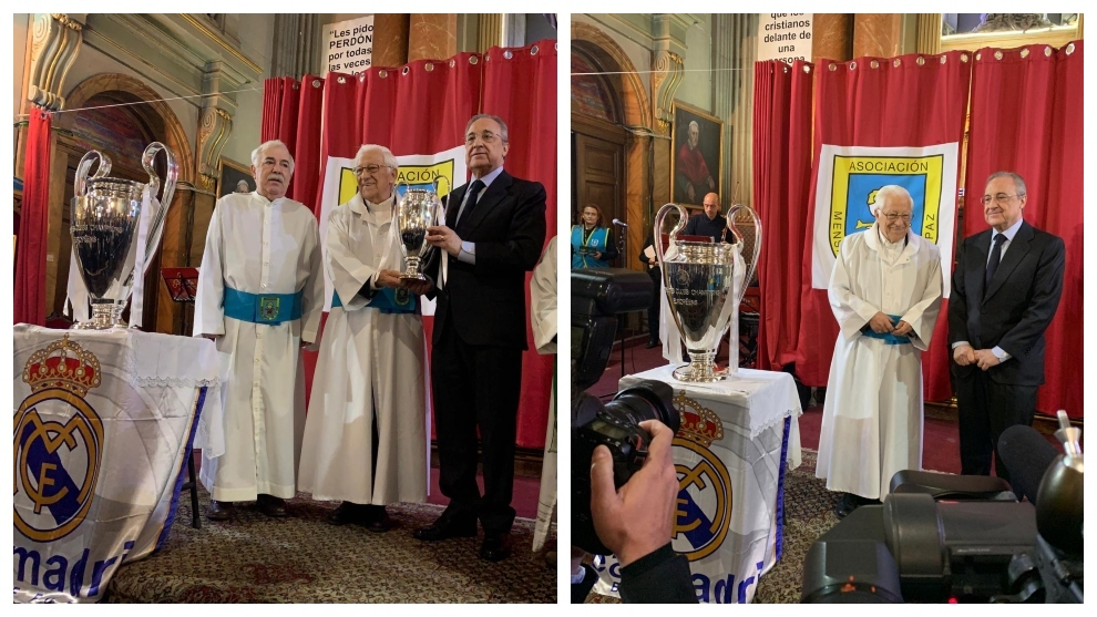 Real Madrid: Florentino Perez joins Father Angel in