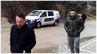 Ivi, a su llegada a Zorrilla  para desvincularse del Valladolid