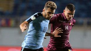 Schiappacasse, en el partido de Uruguay ante Venezuela.