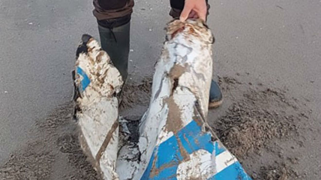 The debris found in the Netherlands does not belong to the plane...