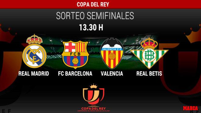 Sorteo Copa del Rey 2019: Semifinales: horario y dónde ver hoy en ...