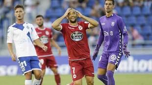Quique se lamenta de una ocasión entre Jorge y Dani en el 2-2 de la...