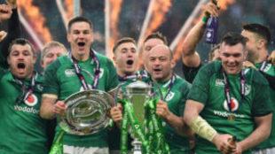 Irlanda celebra su triunfo en el VI Naciones 2018