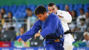 Sergio Ibáñez, durante un combate.