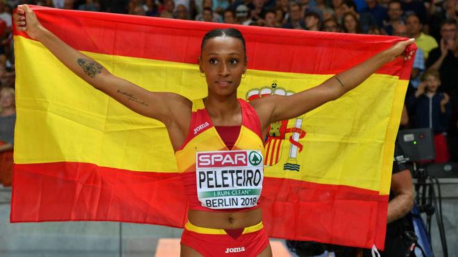 Ana Peleteiro celebra una victoria en una imagen de archivo