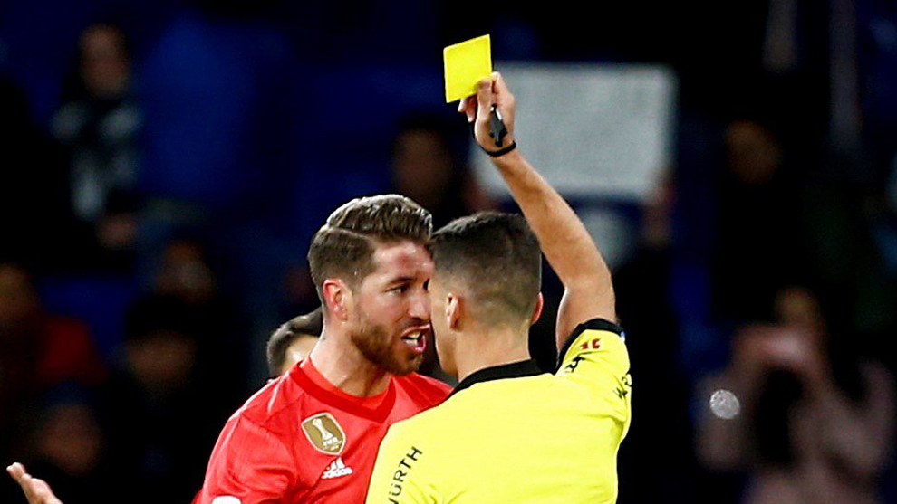 The yellow one that saw Ramos in the RCDE Stadium, the fourth of LaLiga