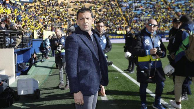 Javi Calleja, durante el partido de La Cerámica.