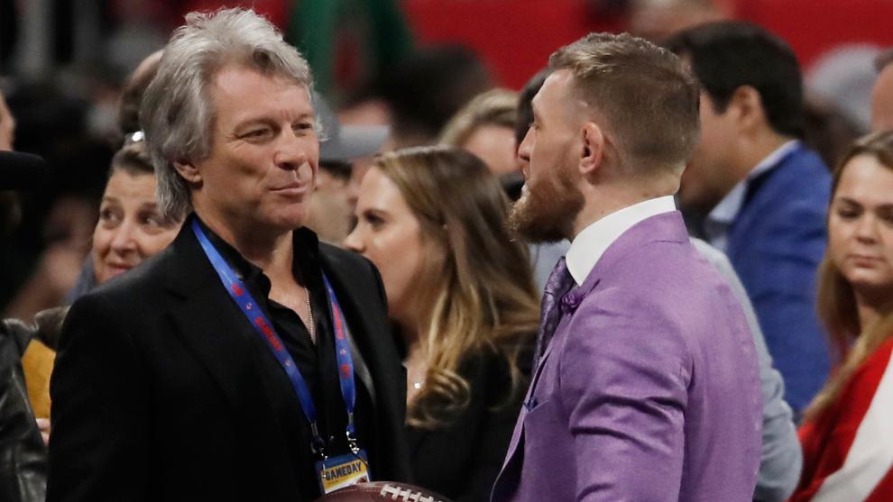 Bon Jovi y Cono McGregor estuvieron juntos previo al kick-off