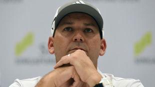Sergio García, durante una conferencia de prensa.