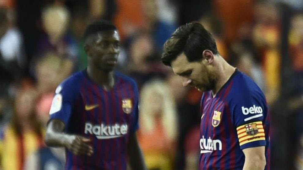 Messi y Dembélé no se entrenan con el grupo y peligran para el Clásico