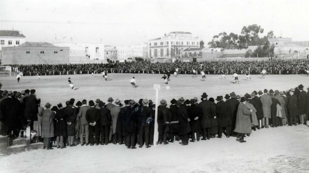 El campo de O'Donnell de Madrid, escenario de la eliminatoria de Copa...