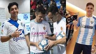 Borja Lasso, Dorado y Linares e Iván Alejo, presentados por Tenerife,...