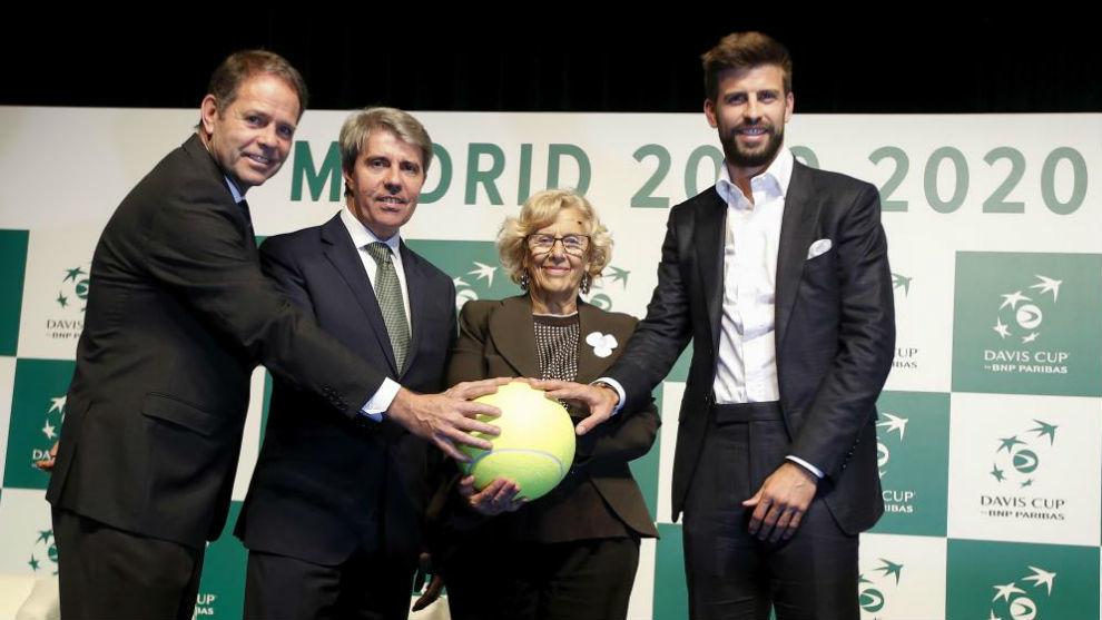 Kelly Fairweather, de la ITF, Ángel Garrido, Manuela Carmena y Gerard...