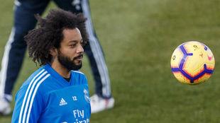 Marcelo, durante un entrenamiento.