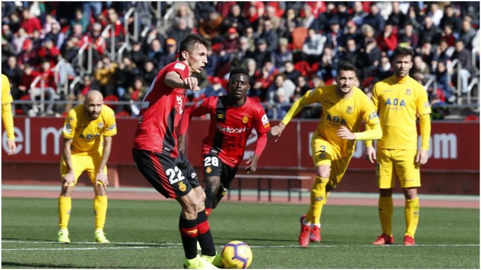 Lance del partido Mallorca-Alcorcón
