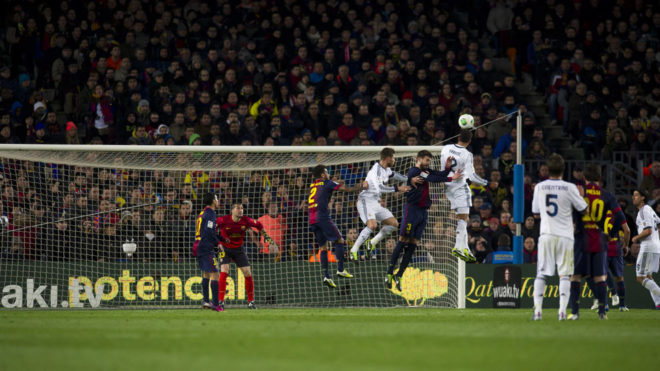 Varane making it 0-3 in the 2012/13 semi-finals of the Copa del Rey.