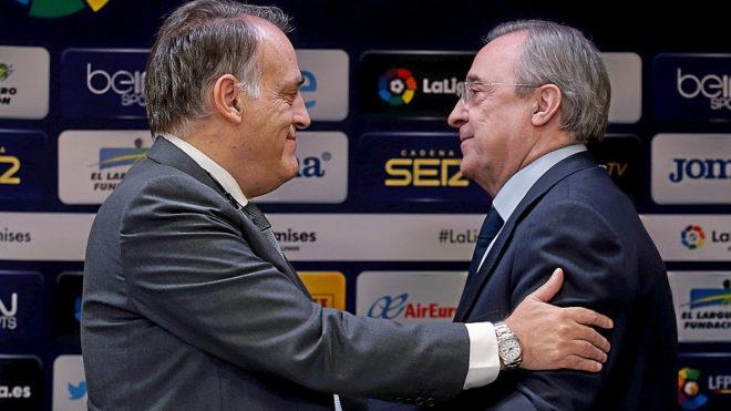 Javier Tebas and Florentino Perez