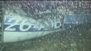 Restos del avión de Emiliano Sala.