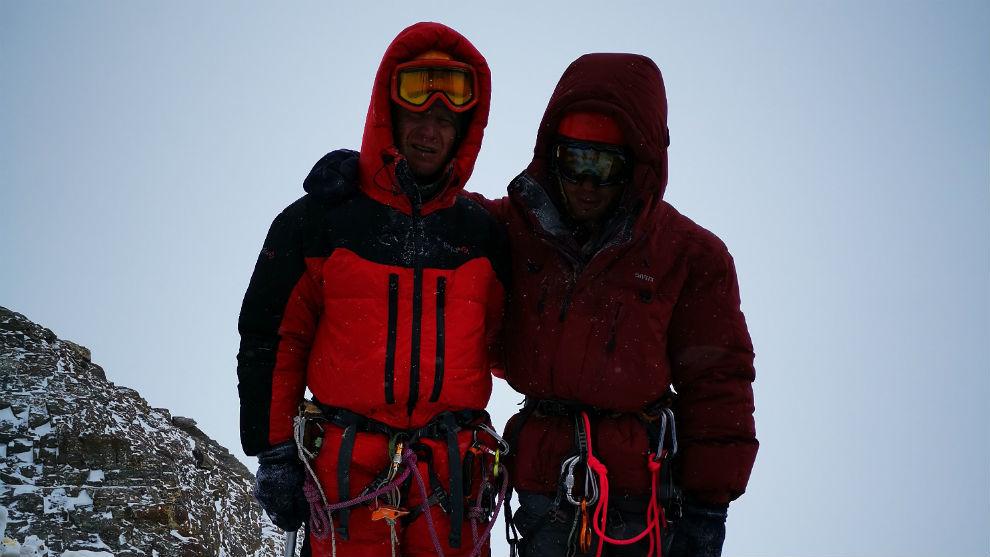 Montañeros rusos en el K2.