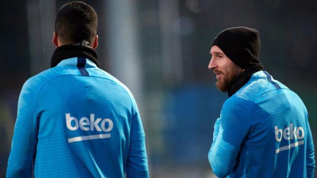 Messi y Suárez.