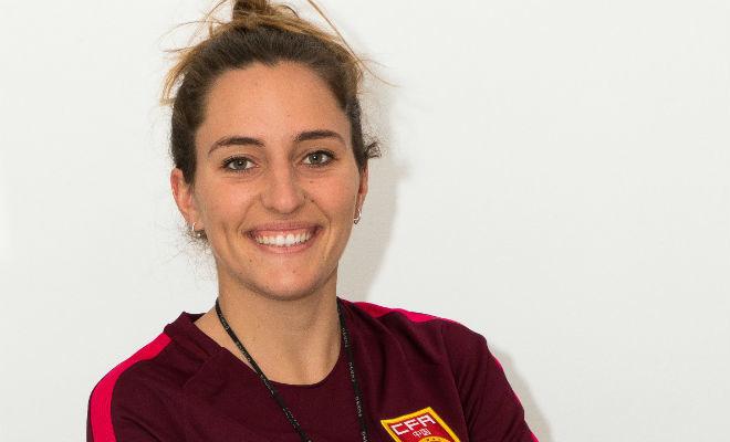 Carmen Repullo, peraparadora física de la selección femenina Sub'14.