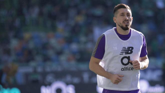 Herrera, en un entrenamiento del Porto.