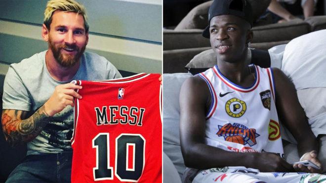 Lionel Messi and Vinicius Junior