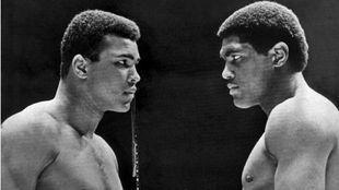 Muhammad Ali y Ernie Terrell en el pesaje.