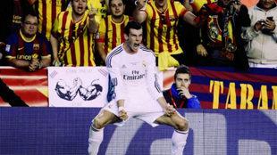 Gareth Bale en un partido contra el FC Barcelona