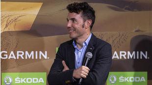 Purito Rodríguez, en la presentación de la Titan Desert.