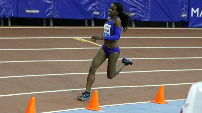 Genzebe Dibaba, en imagen de archivo, en competición