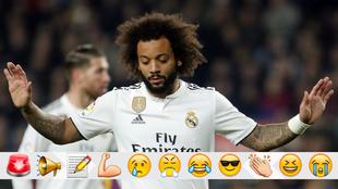 Marcelo, durante el Clásico