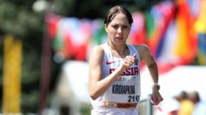 La marchadora rusa Anisia Kirdiapkina