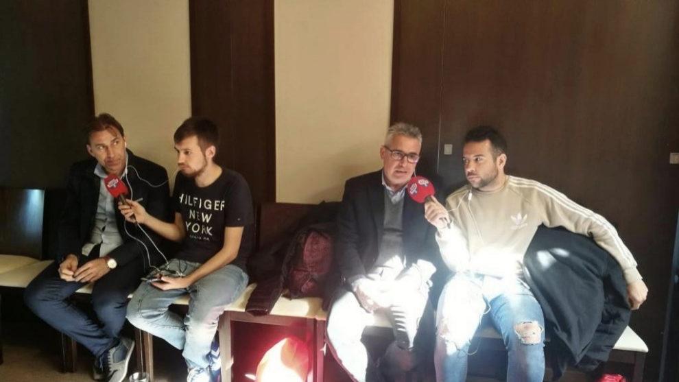 Manolo y Martín Vázquez durante la entrevista en T4