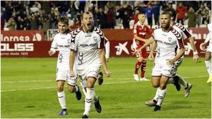 Zozulia celebra uno de los goles marcados esta temporada