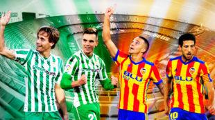Canales, Lo Celso, Rodrigo y Parejo