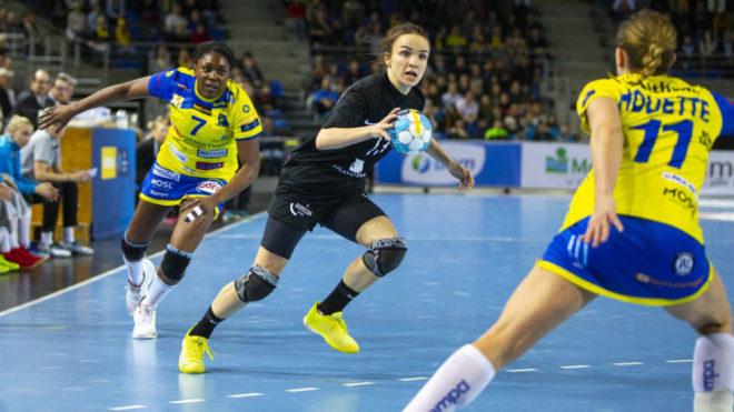 Anna Vyakhireva en un reciente partido de la Liga de Campeones frente...