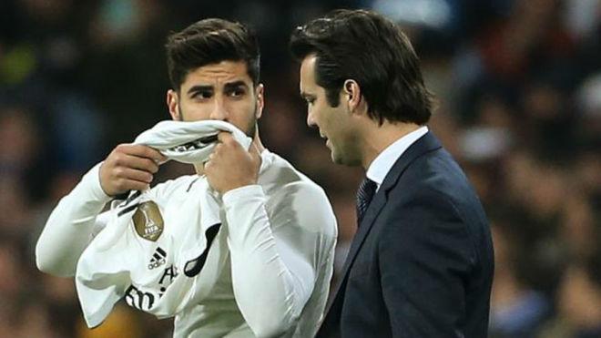Asensio y Solari, en un partido del Madrid