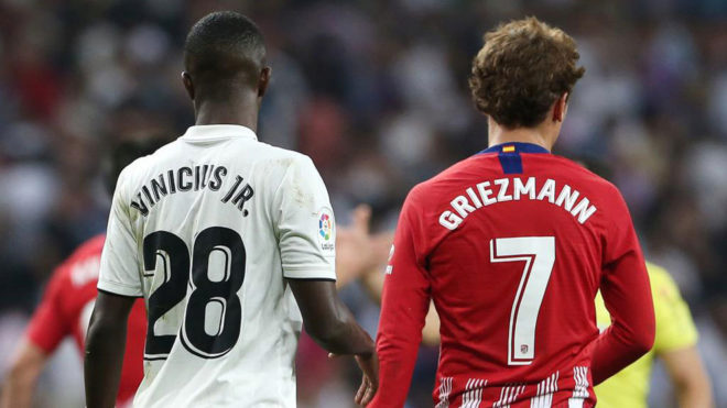 Vinicius Junior and Antoine Griezmann